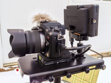 GH2 and SmallHD DP4 on Glidecam HD-4000