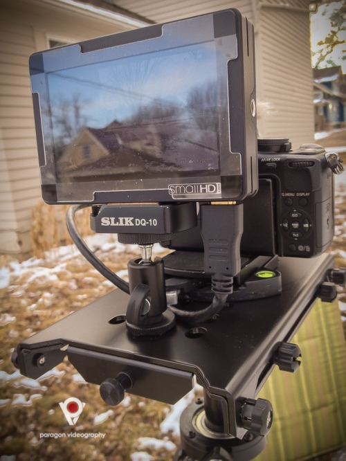 SmallHD DP4 on the Glidecam HD-4000